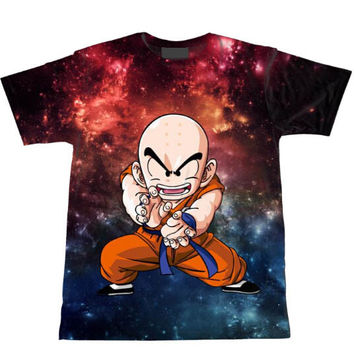 Krillin In Outer Space Tie Dye Bleach Kuririn Dragon Ball Z T-Shirt