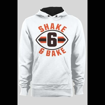 "CLEVELAND BROWN'S BAKER MAYFIELD ""SHAKE AND BAKE"" CHRISTMAS HOODIE"
