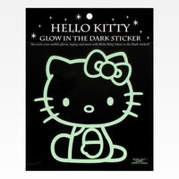 Hello Kitty Glow In The Dark Sticker: Sitting