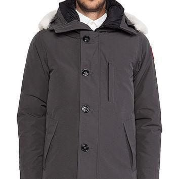 Canada Goose Chateau Parka with Coyote Fur Trim in Gray