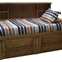 Otter Creek Twin Size Big Bookcase Storage Bed