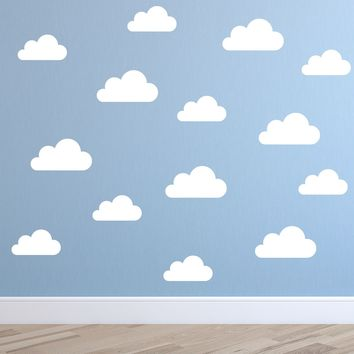ZN C069 Set of 32 cute Clouds pattern removable DIY Wall stickers vinyl art Wall Decal Nursery kids Room