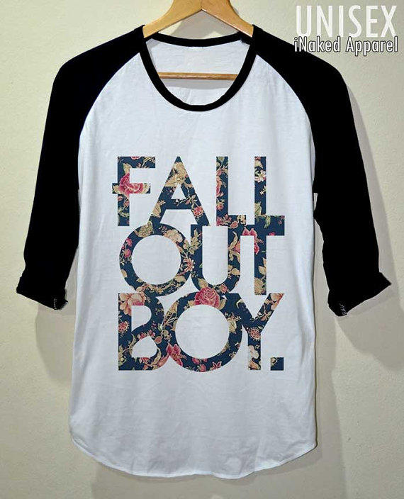 Fob shirt fall out boy flower vintage t from inakedapparel on