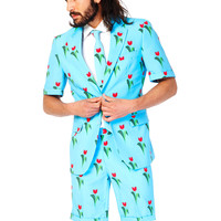 Sprouting Love in the Air Summer Tulips Short Suit