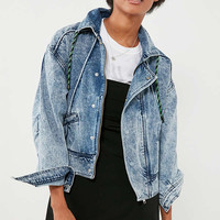 BDG Acid Wash Zip Denim Jacket | Urban Outfitters