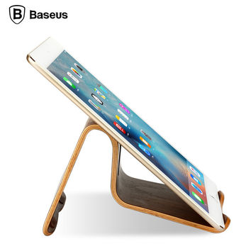 BASEUS Flagship Plain Natural Wooden Tablet PC Desktop Stand Holder Walnut Bracket Mount Pro for iPad Air 5 6 mini 2 3 4 Pads