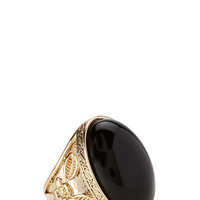Eclectic Faux Stone Cocktail Ring