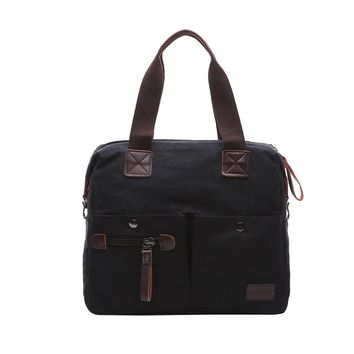 multicolor  Brand Design Laptop Bag Casual Tote For High Quality Men Canvas Tote Bag