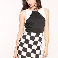 Check Mate Bodycon Dress