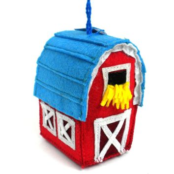 Felt Barn Ornament - Silk Road Bazaar (O)