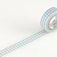 Masking Tape - mt DECO, Square • Pink, 15mm x 10m