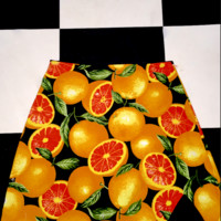 SWEET LORD O'MIGHTY! CITRUS MINI SKIRT IN BLACK