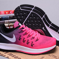 NIKE fashion casual breathable running shoes Pink(white hook)