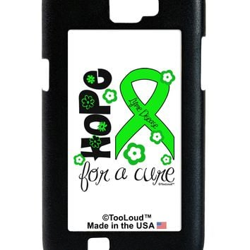 Hope for a Cure - Lime Green Ribbon Lyme Disease - Flowers Galaxy Note 2 Case  by TooLoud