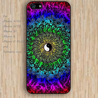 iPhone 5s 6 case Mandala  Yin Yang colorful phone case iphone case,ipod case,samsung galaxy case available plastic rubber case waterproof B329