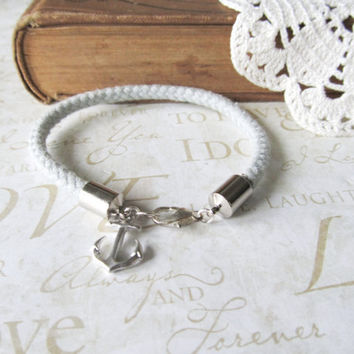 KNOTTY v3 nautical rope bracelet with anchor charm by brideblu