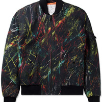 McQ Alexander McQueen Black Scratched Printed MA-1 Jacket | HYPEBEAST Store. Shop Online for Men's Fashion, Streetwear, Sneakers, Accessories