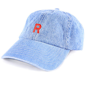 Team Rocket Low Profile Sports Cap - Denim