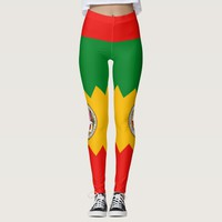 Leggings with flag of Los Angeles City, USA