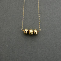 Golden Pyrite on 14k Yellow Gold Chain Necklace
