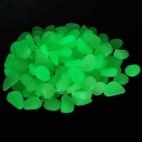 Leegoal 100 Glow in the Dark Pebbles Stones for Walkway Yellow Green / Decorative Gravel for Your Fantastic Garden or Yard