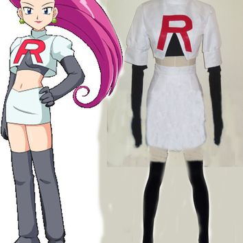 Team Rocket Jesse Cosplay Costume Any Size Custom SizeKawaii Pokemon go  AT_89_9