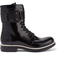 Glossed-leather ankle boots   Karl Lagerfeld   UK   THE OUTNET