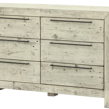 Hadley 6 Drawer Dresser RUSTIC CREAM