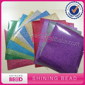 Heat Transfer Iron On or Heat Press.  10x12 Glitter Vinyl Sheets (13 sheets) for T-shirts, Hats, Fabrics HTV