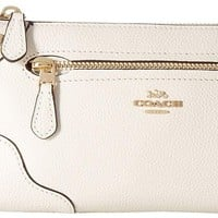COACH Womens Grain Leather Mickie Crossbody