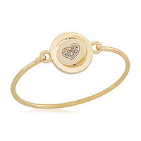 Carolee Word Play Five Languages MOTHER Bangle Bracelet - Gold