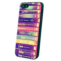 Walt Disney All Book Princess Custom Case for Iphone 5/5s (Red)