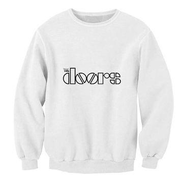 the doors sweater White Sweatshirt Crewneck Men or Women for Unisex Size with variant colour