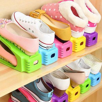 ONETOW New Modern Double Shoe Racks Modern Double Cleaning Storage Shoes Rack Living Room Convenient Shoebox Shoe Organizer Stand Shelf