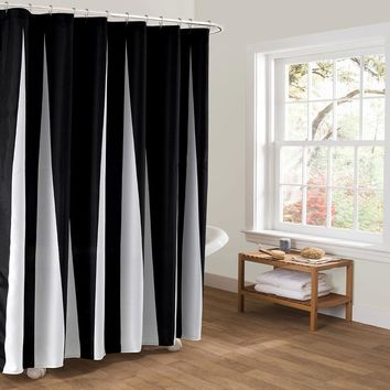 Charm Romantic European classic Black And White Waterproof Mildew Bathroom Curtain Unique stripes More Creative shower Curtain