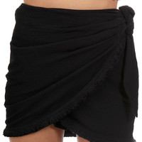 WILD FIRE WRAP SKORT // BLACK