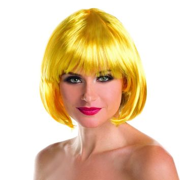 Yellow Solid Color Short Bob Wig