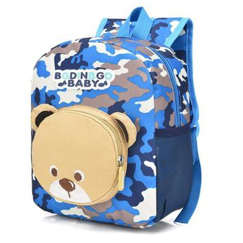 Hot Newest Baby Boys Girls Kids Bear Pattern Animals Camouflage Backpack Toddler school bags for girls boys Travel back pack