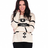 Vintage Havana Tribal Print Sweater