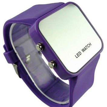 Silicone Strap Square Face Digital Watch