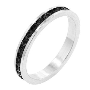 Posh Stackables - Black CZ