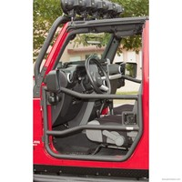Front Tube Doors, Textured Black; 07-16 Jeep Wrangler JK