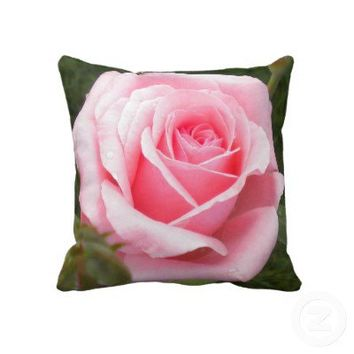 Pale Pink Rose Throw Pillow from Zazzle.com