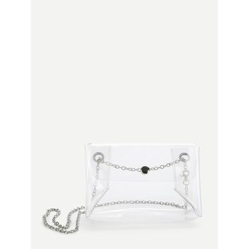 PVC Clear Shoulder Bag