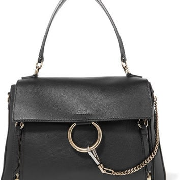 Chloé - Faye Day large textured-leather shoulder bag