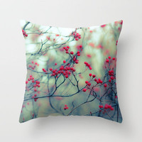 Winter Berries Throw Pillow by Ann B. | Society6