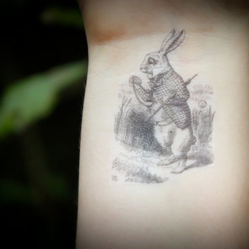 The White Rabbit - Alice In Wonderland Temporary Tattoo