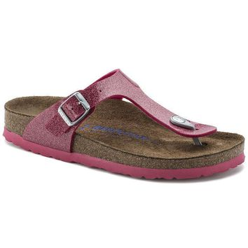 Sale Birkenstock Gizeh Soft Footbed Birko Flor Magic Galaxy Bright Rose 1003164/100316