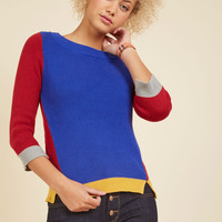Primary, Salutary, Tertiary Cotton Sweater | Mod Retro Vintage Sweaters | ModCloth.com