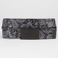 Buckle-Down Floral Paisley Web Belt Black/White One Size For Men 23551112501